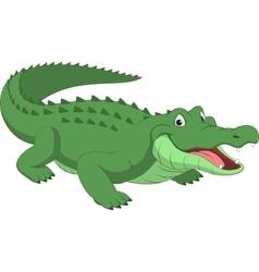Funny crocodile vector image