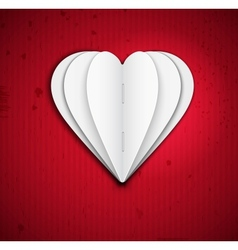 Heart of paper vector image vector image