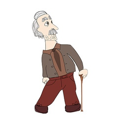 The old man on a white background vector image