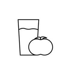 tomato juice icon vector image