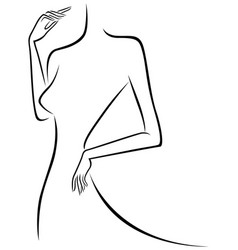 abstract slim female outline vector image vector image