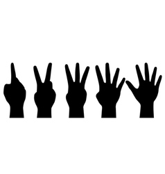 counting hands vector image vector image