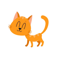 cute funny sweet red cat character eyes closed vector image