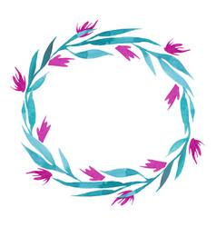 Hand drawn watercolor flower wreath in vector