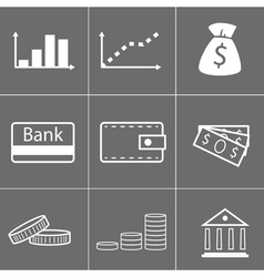icons money vector image vector image