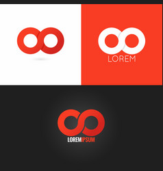 infinity symbol logo design icon set background vector image vector image