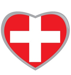 Isolated Swiss flag vector image