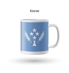 Kosrae flag souvenir mug on white background vector image vector image