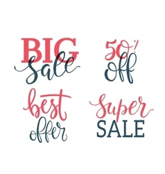 Sale Inscriptions Lettering set vector image vector image
