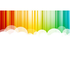 abstract clouds background colorful stripes vector image