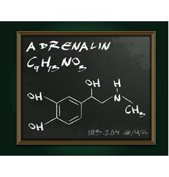 Adrenalin molecule image vector