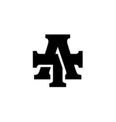 at letter mark monogram logo icon vector image