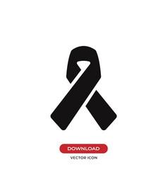 awareness ribbon icon vector image