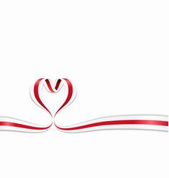 belorussian flag heart-shaped ribbon vector image