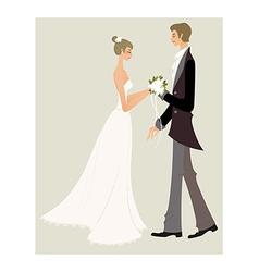 Bride and bridegroom vector image vector image