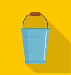 bucket icon flat style vector image