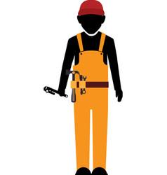 Builder construction worker tools vector