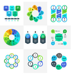 Business infographic option charts with marketing vector