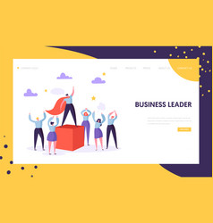 business leader manager landing page template vector image