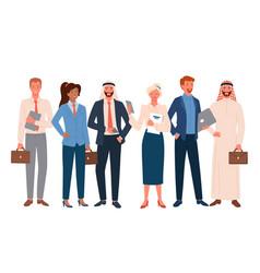 Business people international employee team set vector