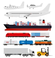 Cargo and delivery transportation vector image