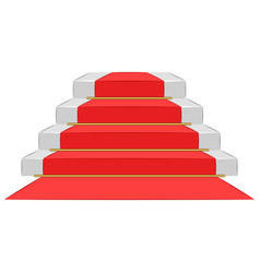 ceremony podium with red carpet pedestal stairs vector image