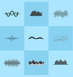 charts collection on blue vector image