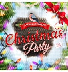 Christmas template with label EPS 10 vector