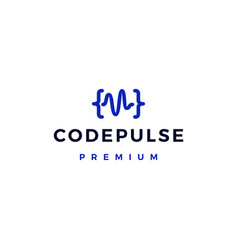 code pulse logo icon vector image