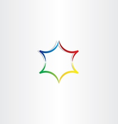 Colorful gradient star logo icon design vector