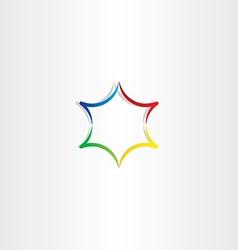colorful gradient star logo icon design vector image