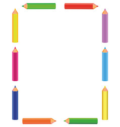 Colorful pencils frame vector