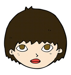 comic cartoon girl staring vector image