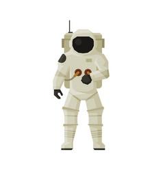 Cosmonaut or astronaut in space suit space vector