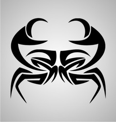 Crab Tribal vector image