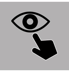 Data protection smartphone eye surveillance vector