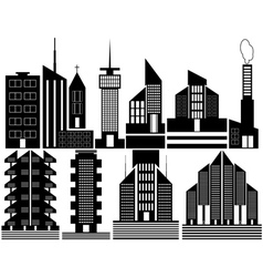 different high rise homes vector image
