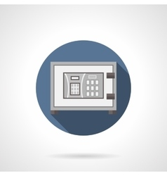 Digital banking safe flat color round icon vector image