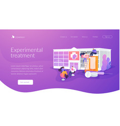 Drug rehab center landing page concept vector