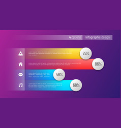 Easy editable 4 options infographic design vector