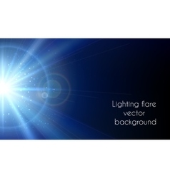 Electric star flash Abstract lighting flare vector image