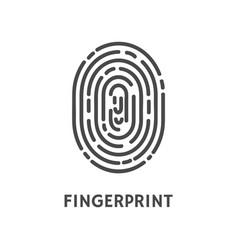 Fingerprint unique finger pattern poster vector