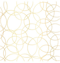 Gold foil circles abstract seamless pattern vector