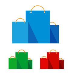 group of bright flat shopping bags vector image
