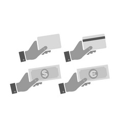 hand with card and money vector image