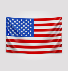 Hanging flag of usa united states of america vector