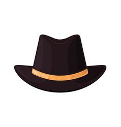 hat top black bowler gentleman icon vintage vector image