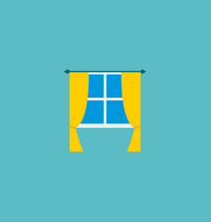 icon flat window element of vector image