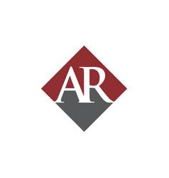 Initial ar rhombus logo design vector
