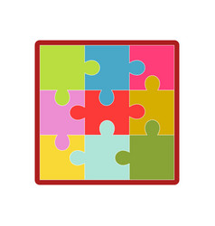 kid toy children plaything puzzle picture vector image